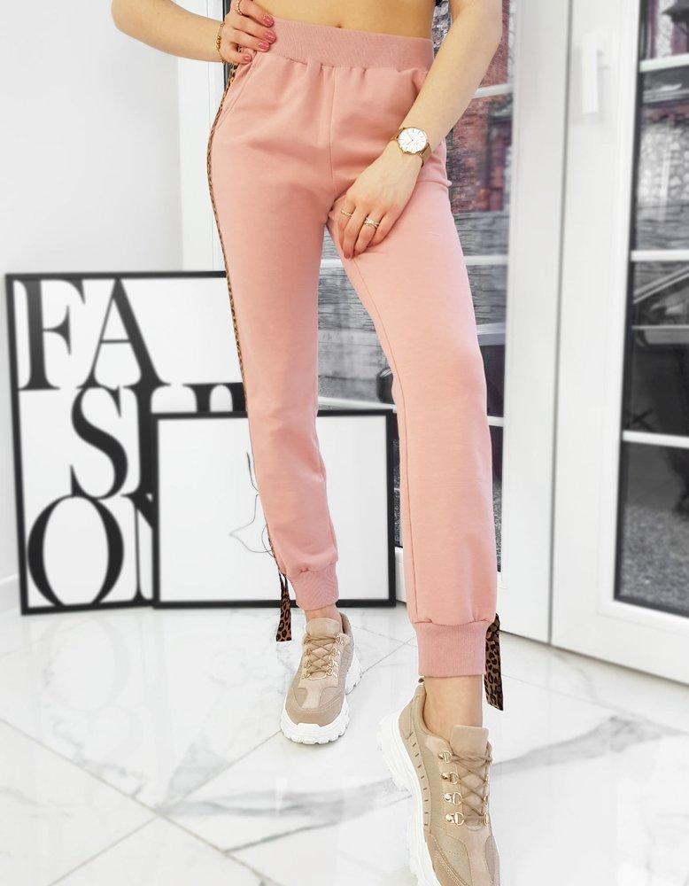 Spodnie damskie RODNEY różowe UY0745