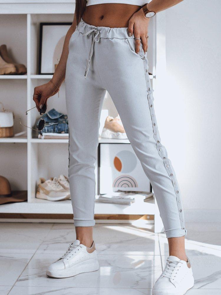 Spodnie damskie dresowe FEND jasnoszare Dstreet UY0780