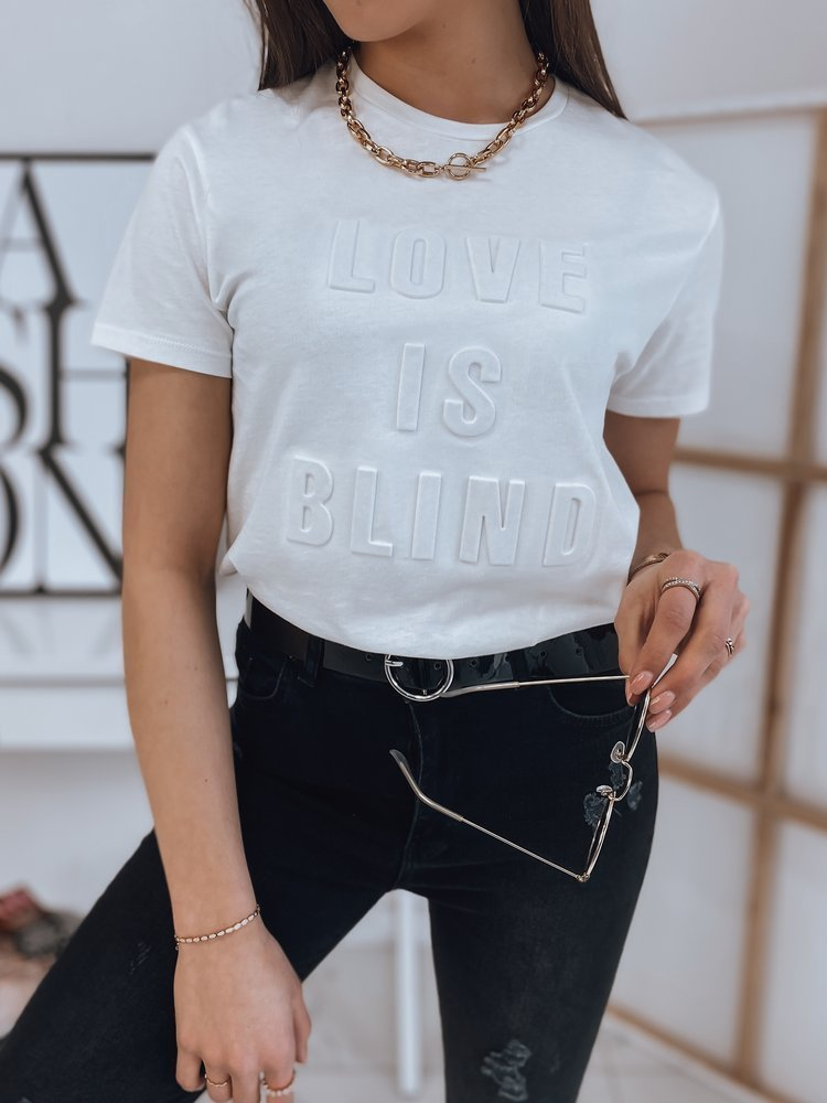 Biele dámske tričko LOVE IS BLIND.