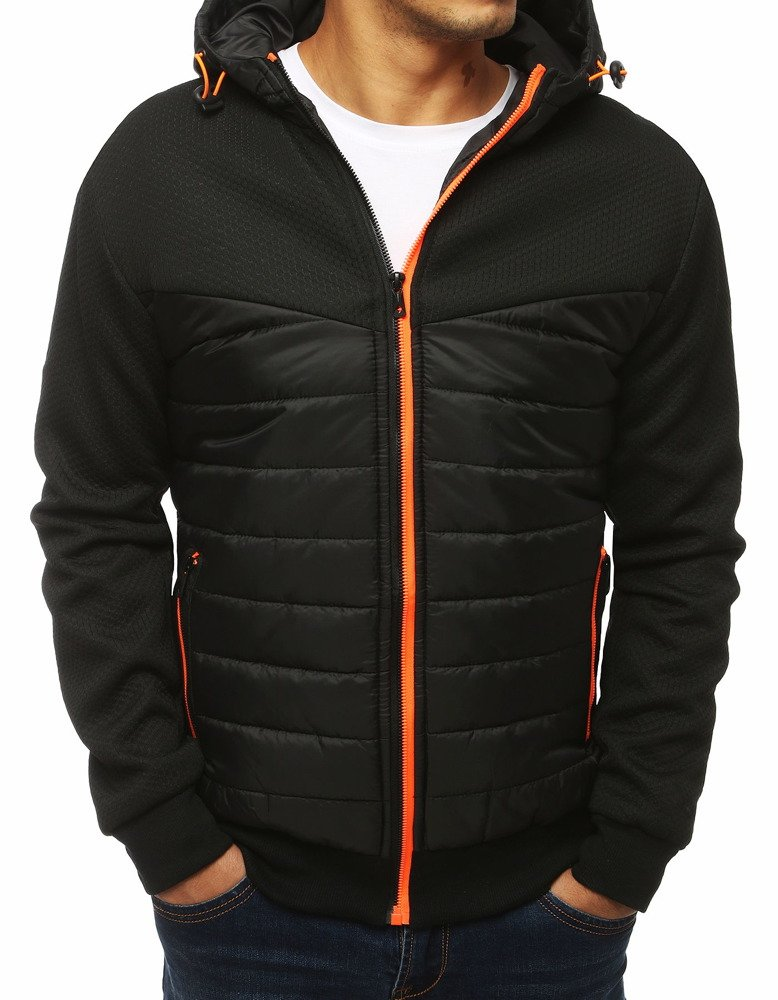 Čierna pánska bunda (tx2973)