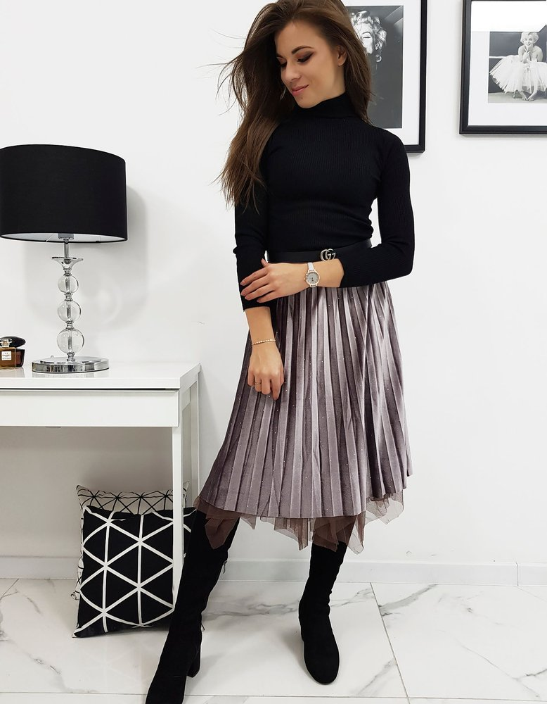 Obojstranná zamatová sukňa