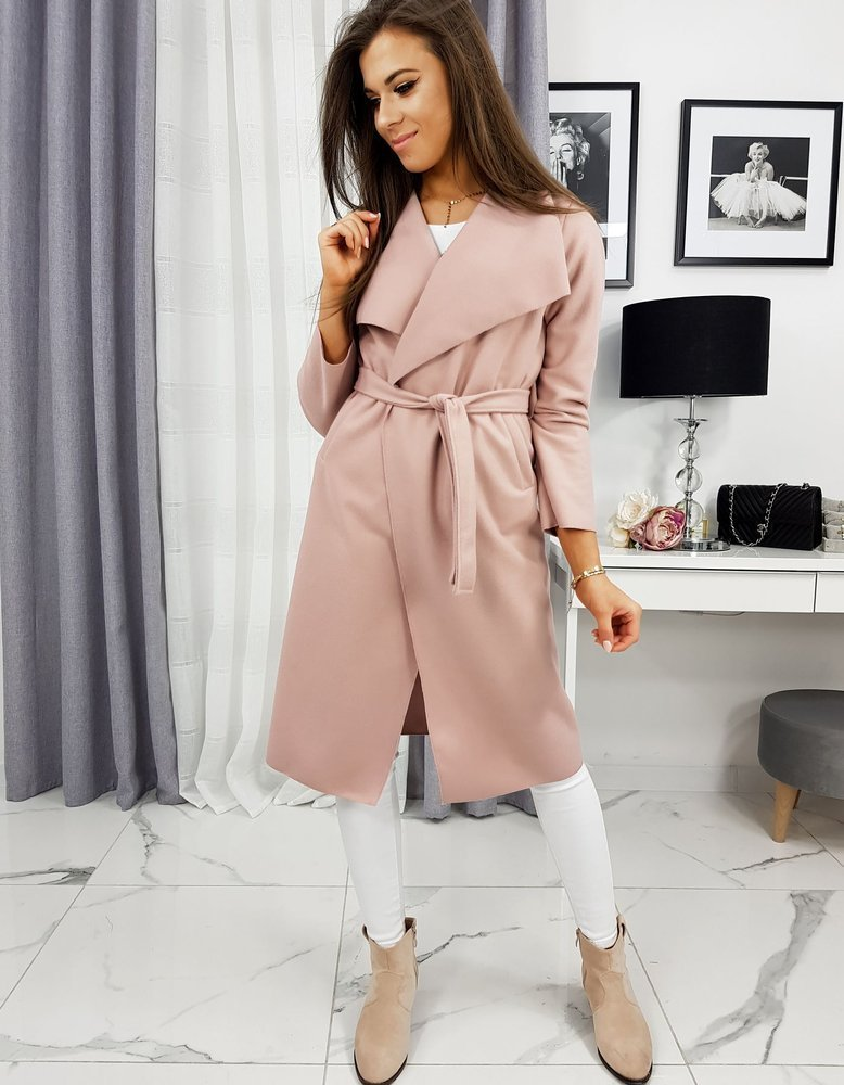 Ružový dámsky kabát