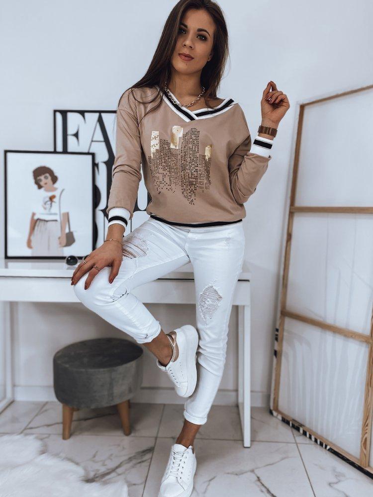 Bluza damska ELLIOT beżowa BY0700