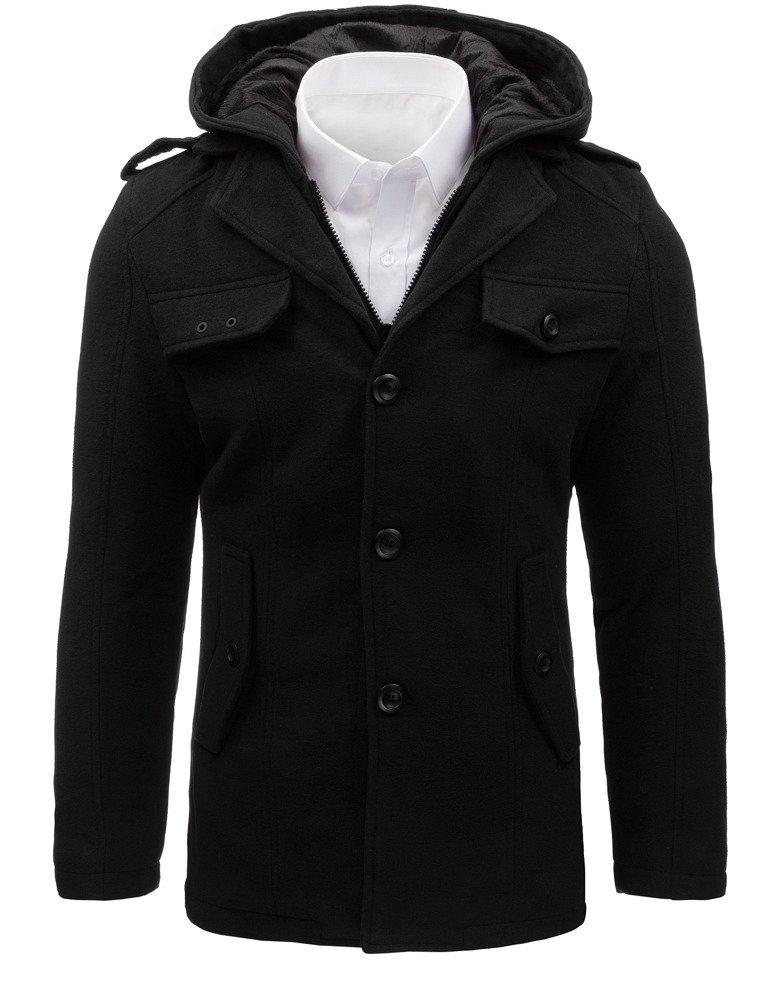 Pánsky kabát čierny