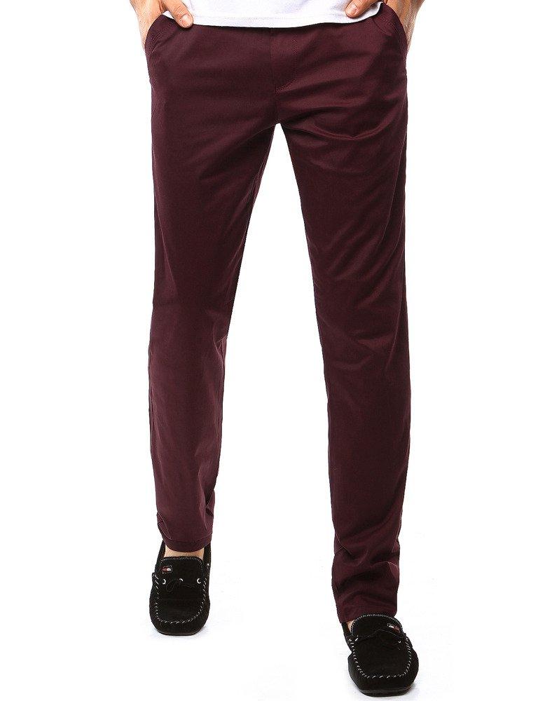 Spodnie męskie chinos bordowe UX1098