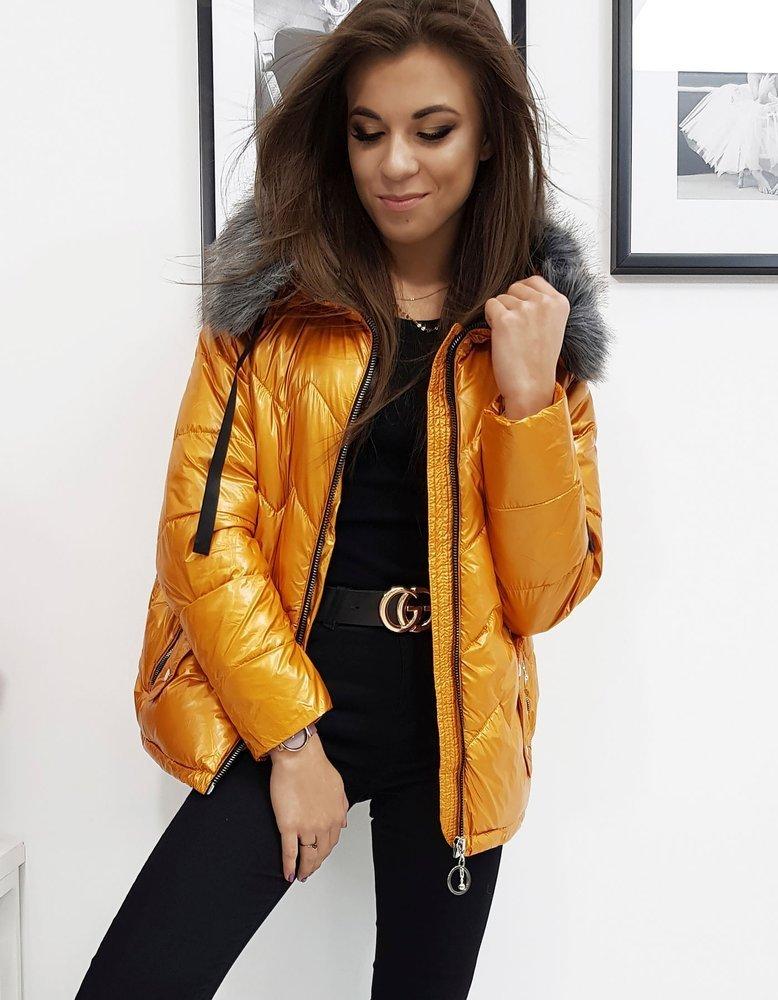 Dámska zimná bunda ťavia farba