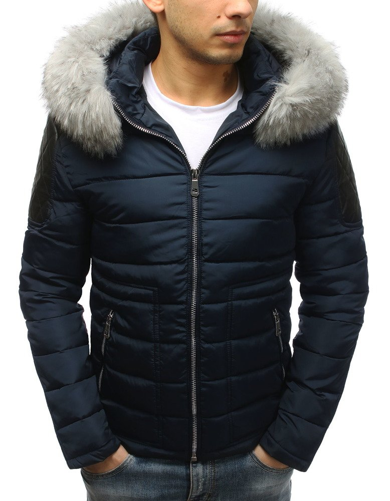 Granátová pánska bunda s kapucňou (tx2565)