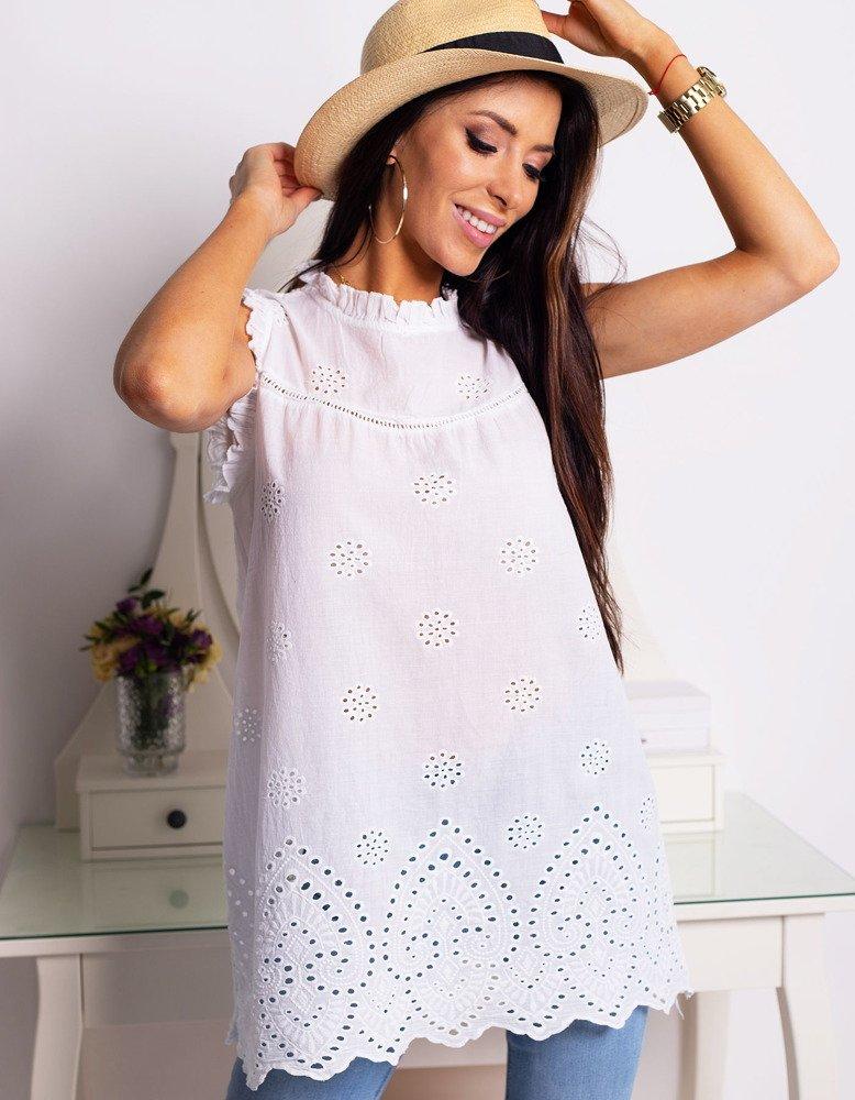Bluzka damska CLAIRE biała (ry0675)