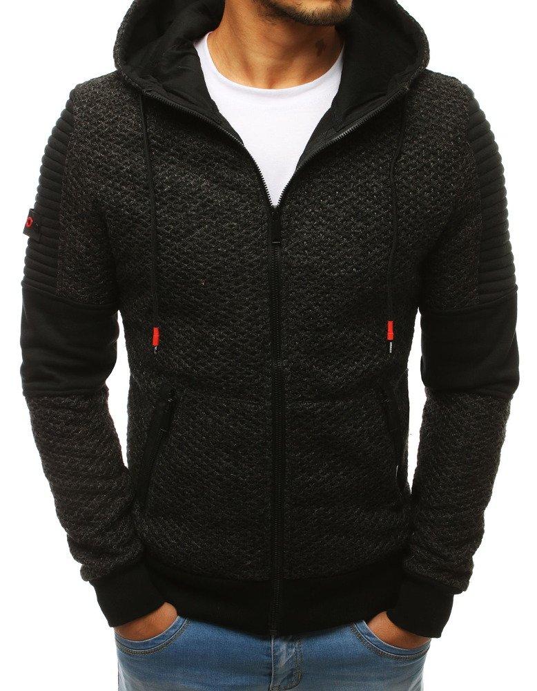 Čierna pánska mikina (bx3960)