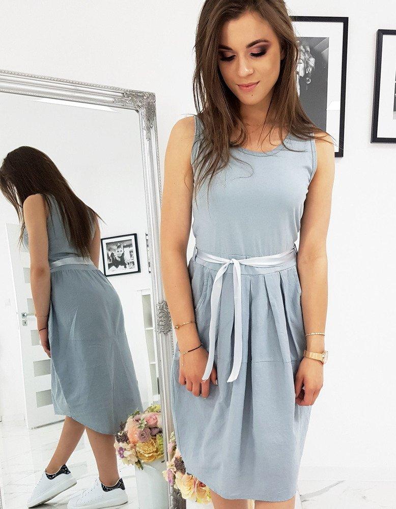 Šedé dámske šaty (ey0921)