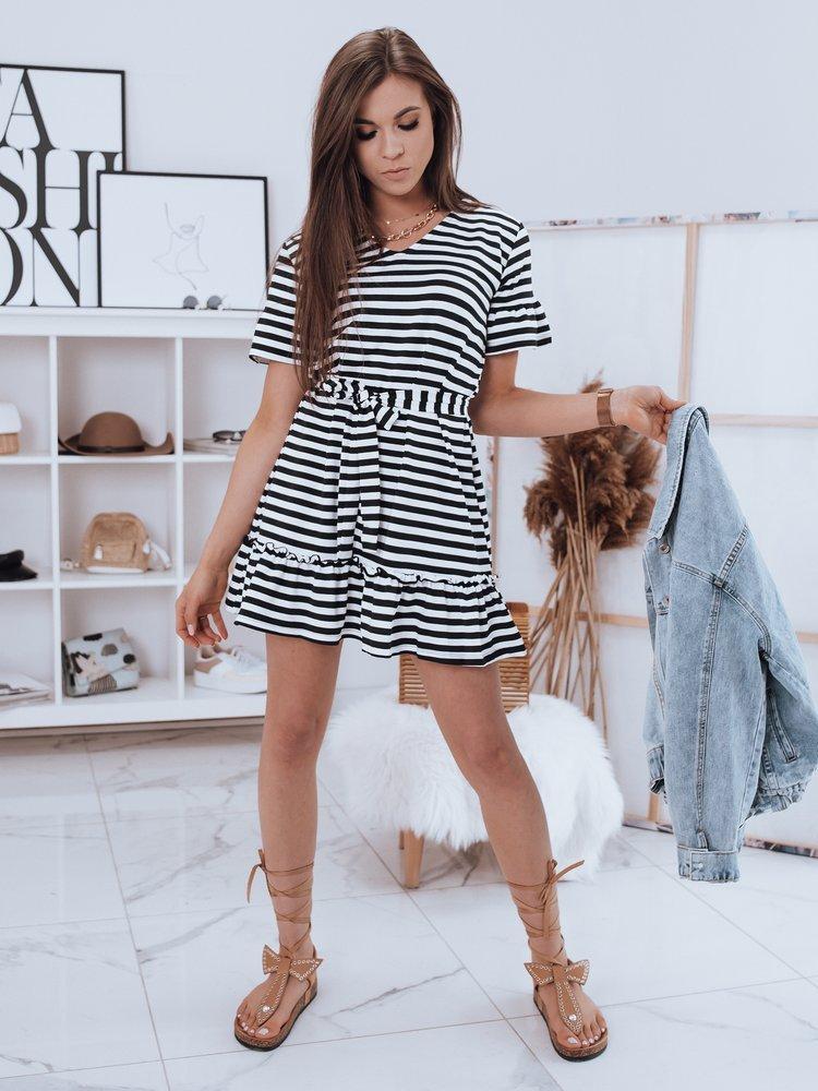Čierno biele pruhované šaty