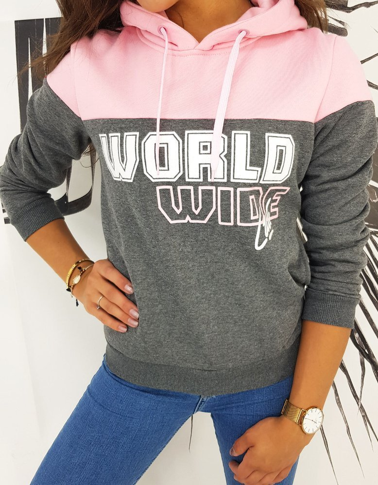 Bluza damska WORLD szara BY0510