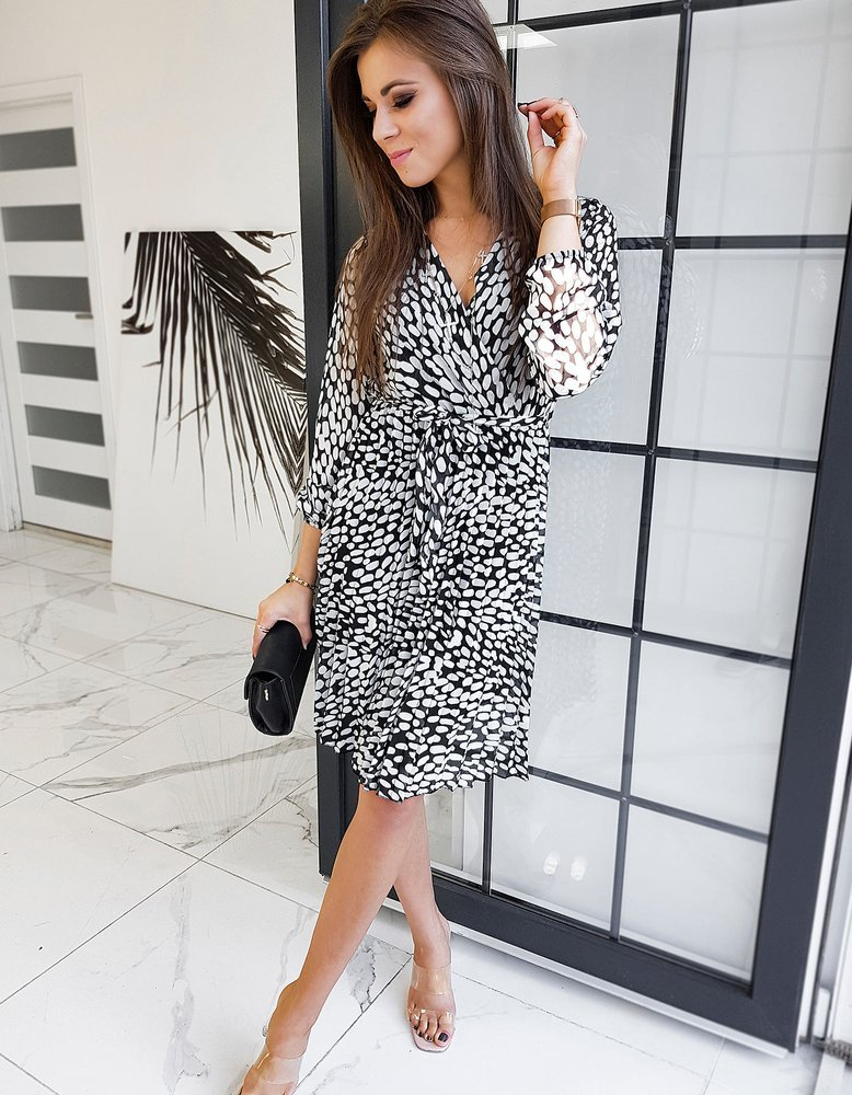 Čierne dámske šaty DUELLO EY1345