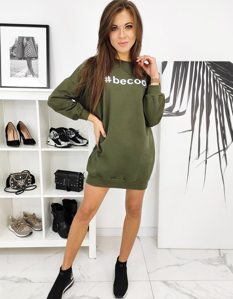 Sukienka tunika BECOOL khaki BY0618