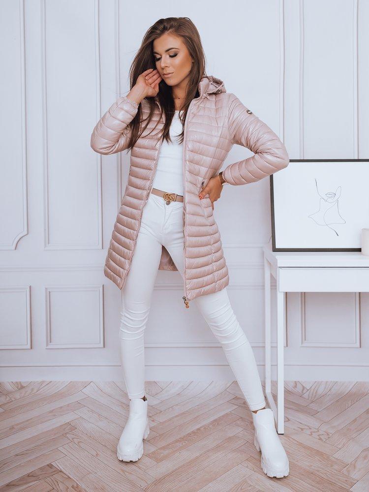 Ružová dámska prešívaná bunda/kabát ERIA.