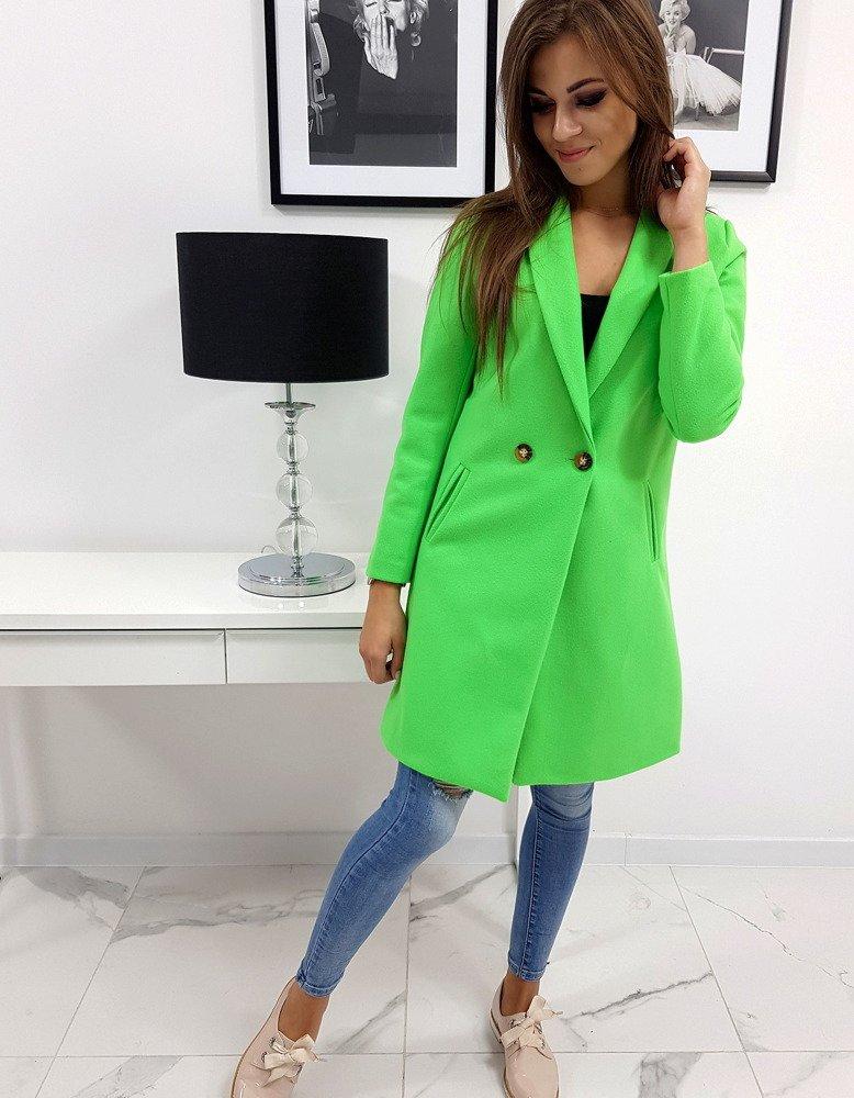 Płaszcz damski TRINI neonowa zieleń (ny0243)