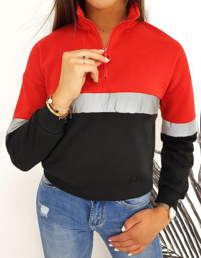 Bluza damska DUETO II czerwona BY0395
