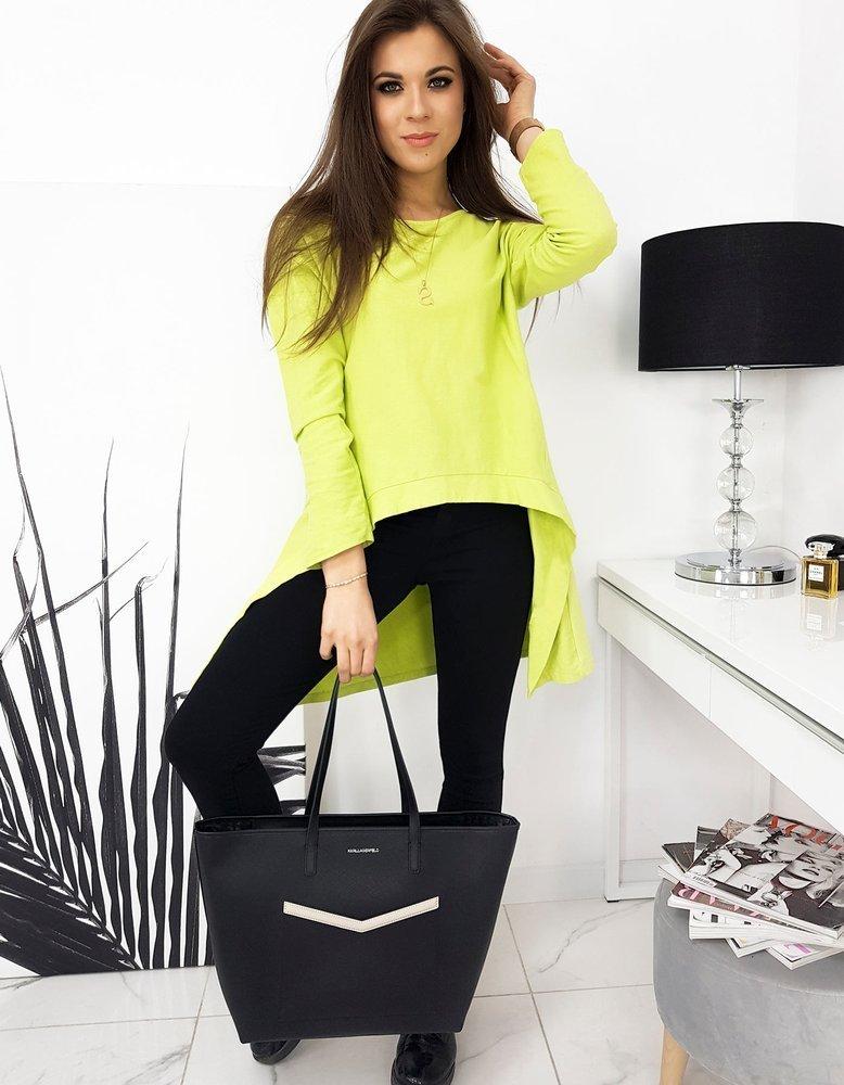 Bluzka damska LOOK limonkowa RY0620