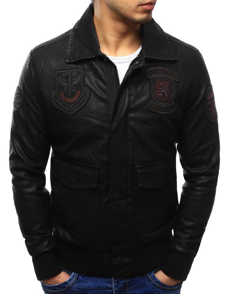 Štýlová pánska bunda čierna (tx2075)