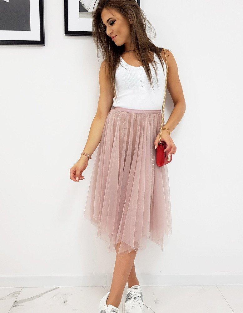 Dvojvrstvová ružová sukňa