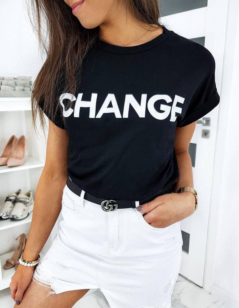 T-shirt damski CHANGE czarny RY1376