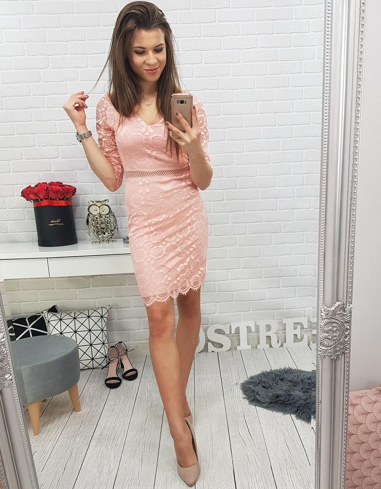 Ružové dámske šaty (ey0583)