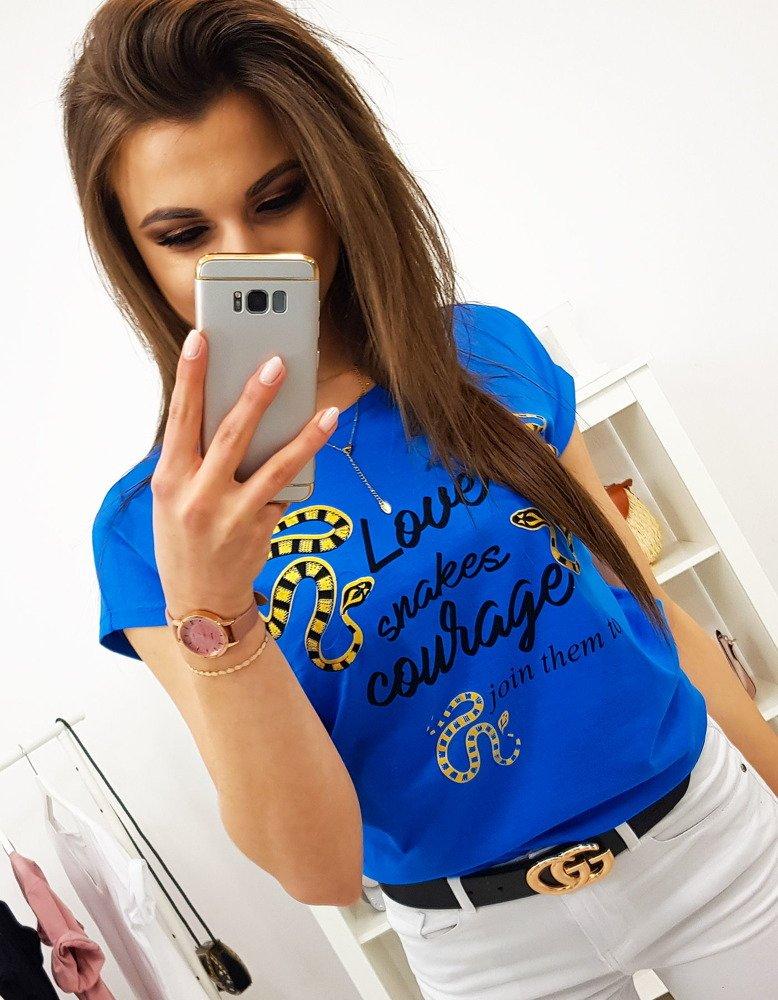 Modré dámske tričko (ry1155)