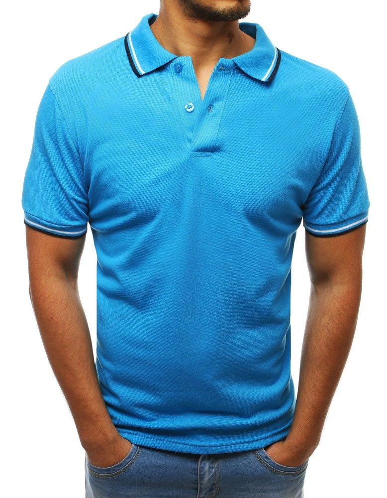 Pánske svetlo modré polo tričko