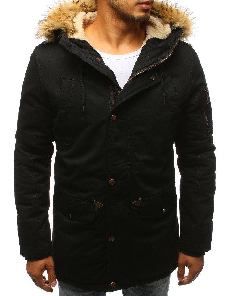 Zimná pánska bunda čiernej farby (tx2979)