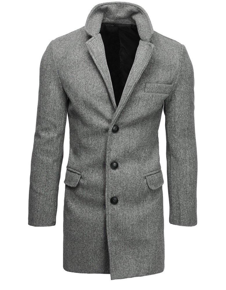 Jednoradový mužský kabát svetlo šedý
