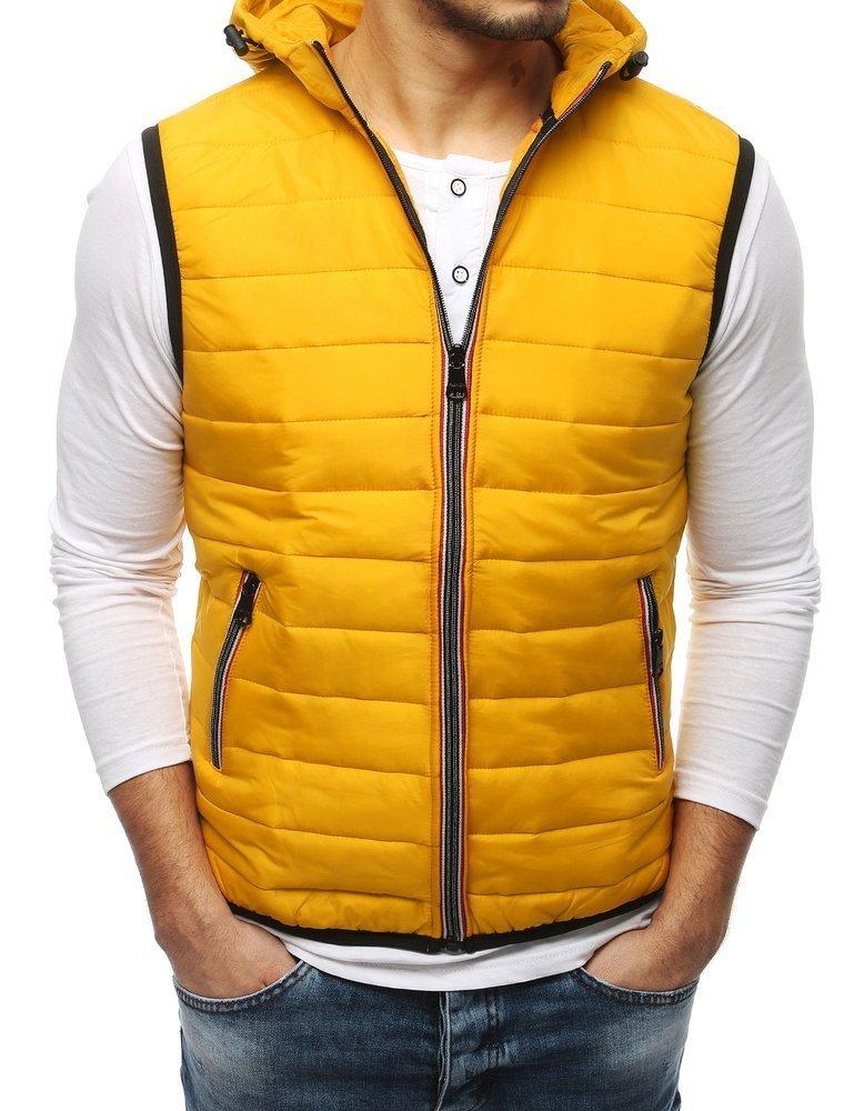 Žltá pánska vesta TX3163