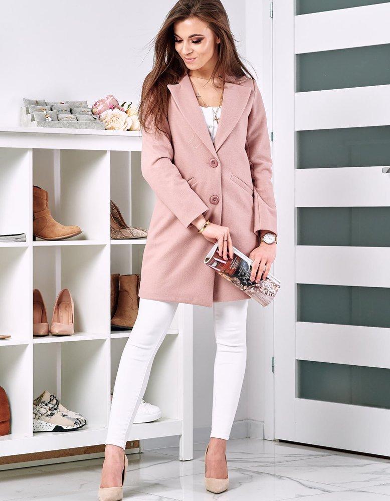 Płaszcz damski FELINASE różowy NY0309
