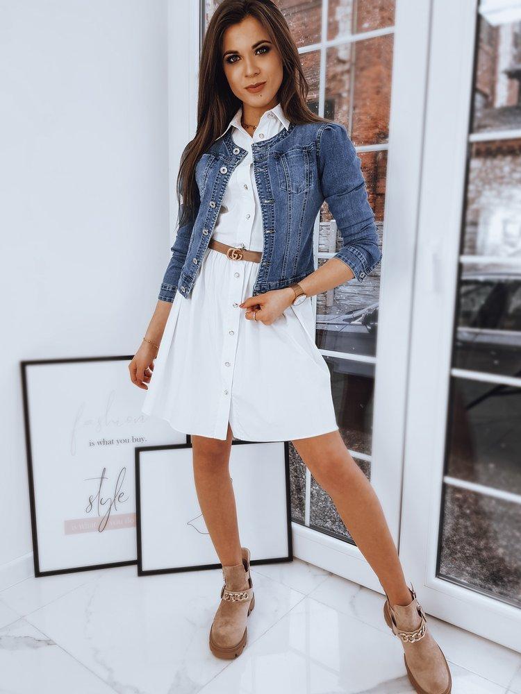 Kurtka damska jeansowa POENA niebieska TY1670