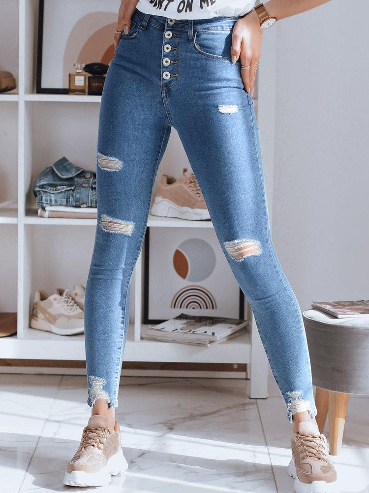 Spodnie damskie jeansowe DENA niebieskie UY0774