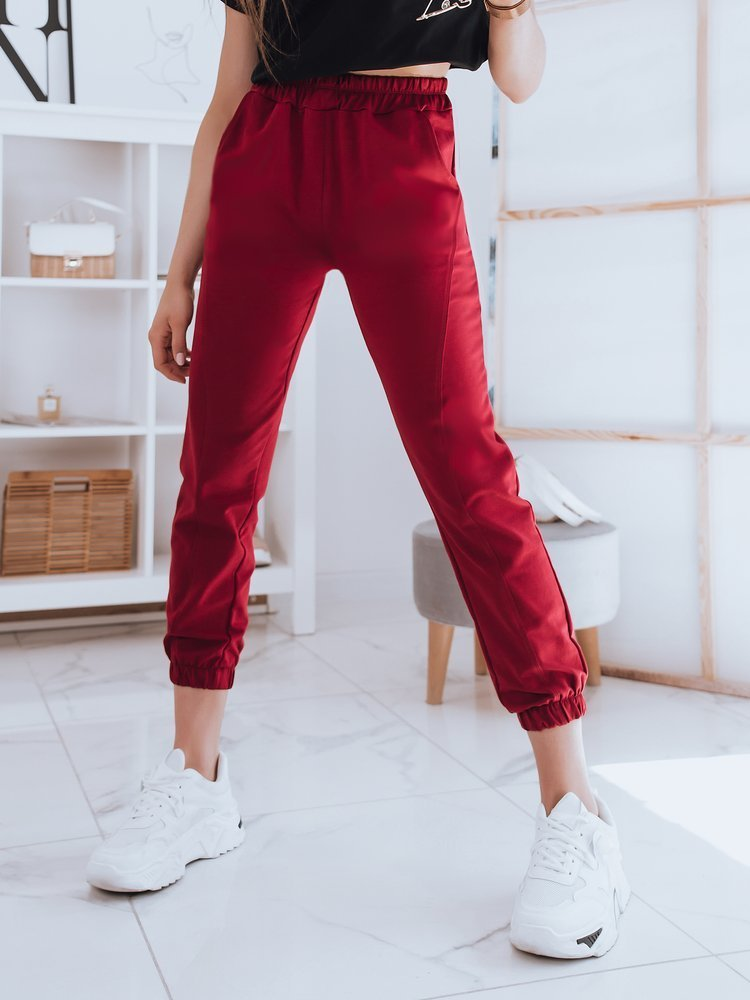 Spodnie damskie dresowe STIVEL bordowe Dstreet UY0906
