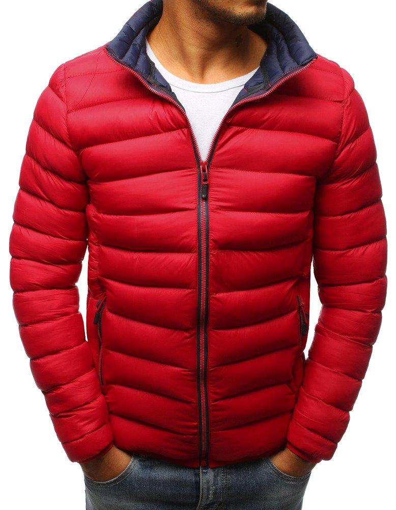 Červená zimná pánska bunda (tx2373)