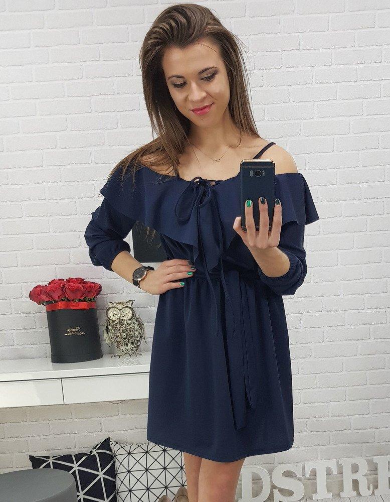 Pekné granátové dámske šaty (ey0642)