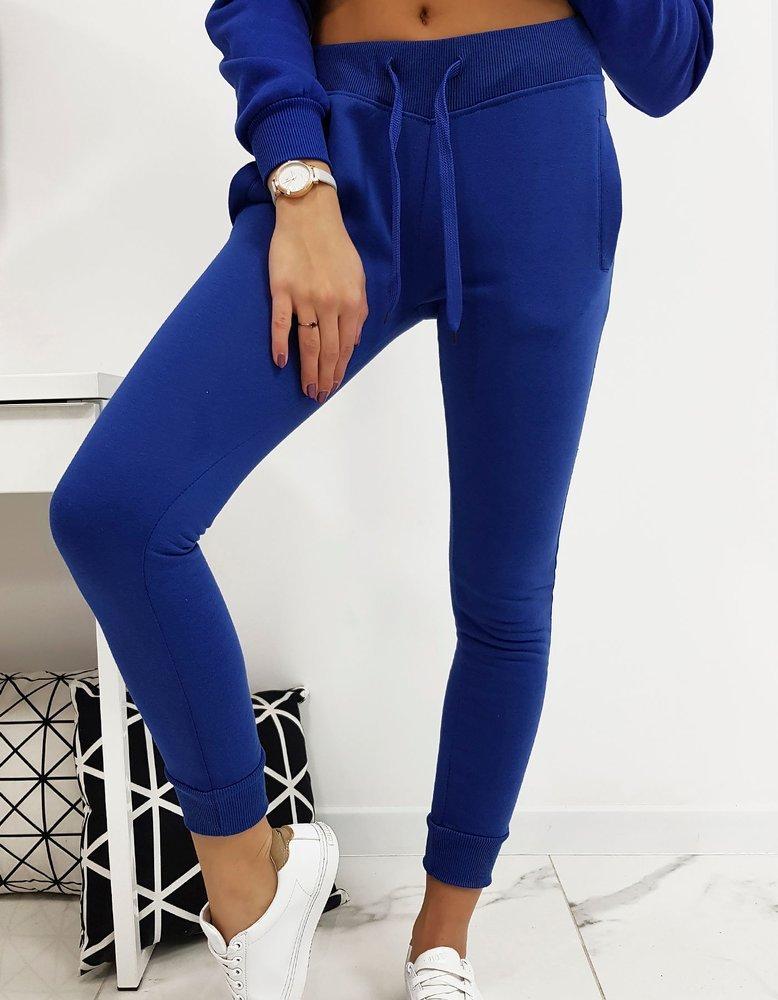Spodnie dresowe FITT damskie niebieskie (uy0210)