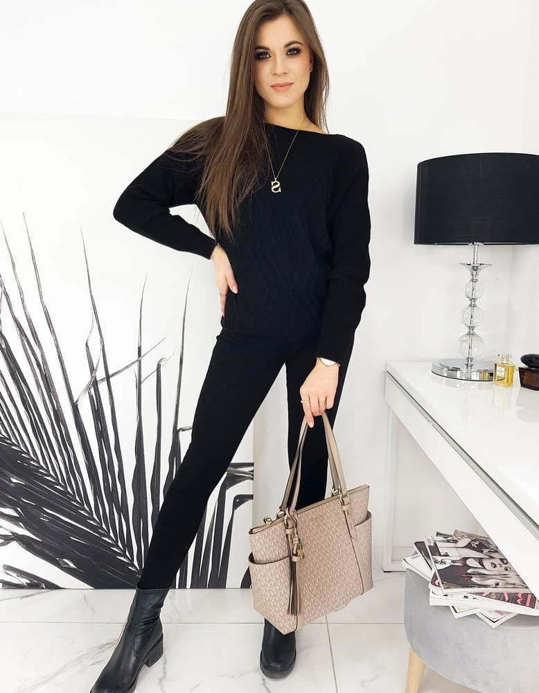 Sweter damski DIJON czarny MY0913