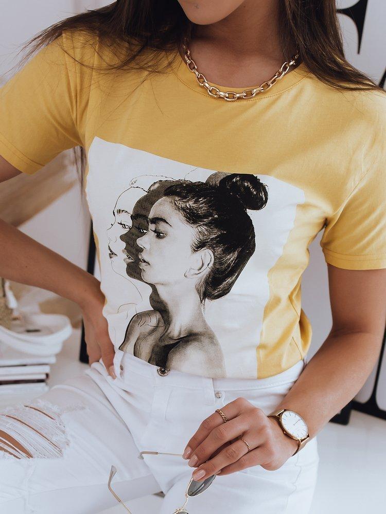 T-shirt damski WOMEN żółty Dstreet RY1657