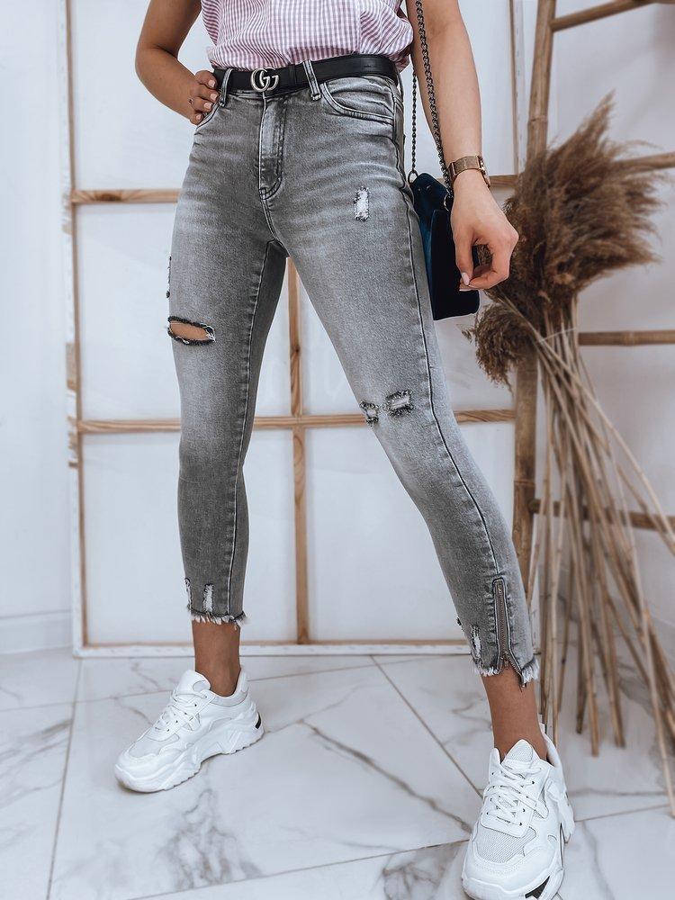 Spodnie damskie jeansowe RASHA szare Dstreet UY0868