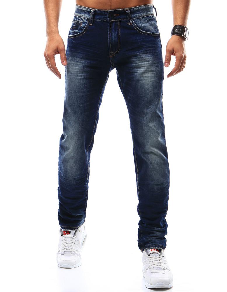 Spodnie jeansowe męskie granatowe UX0917