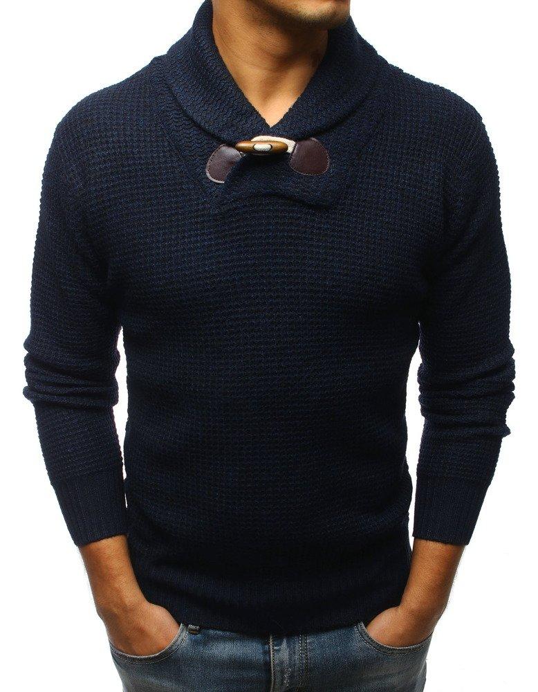 Pánsky sveter námornícka modrá