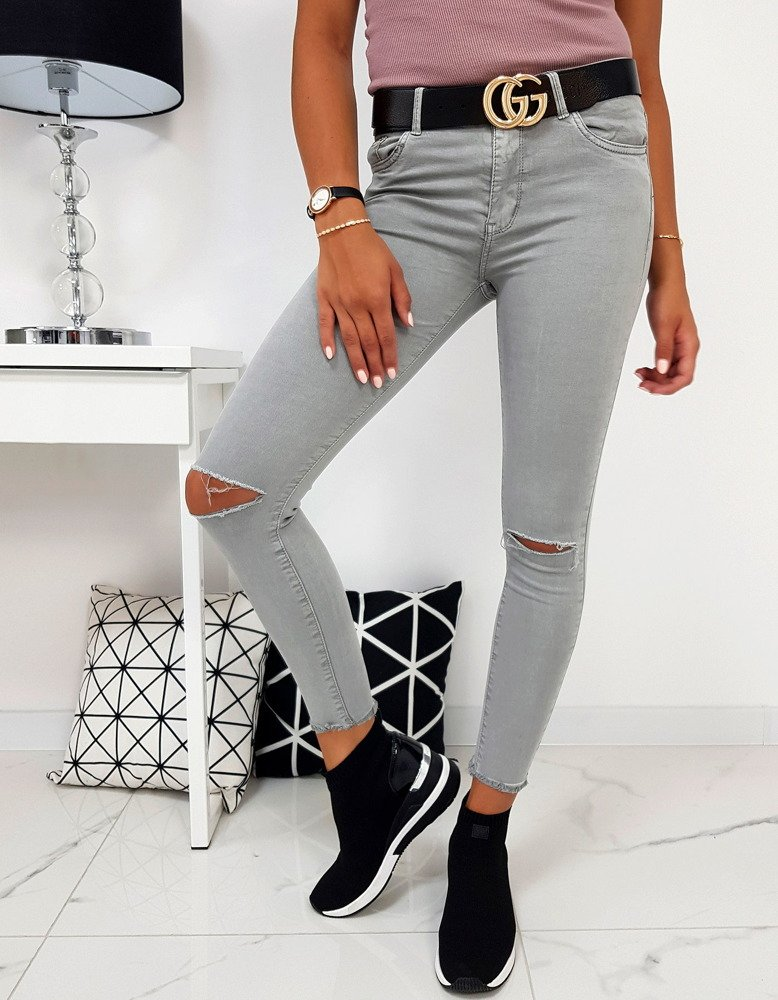 Spodnie damskie szare UY0160