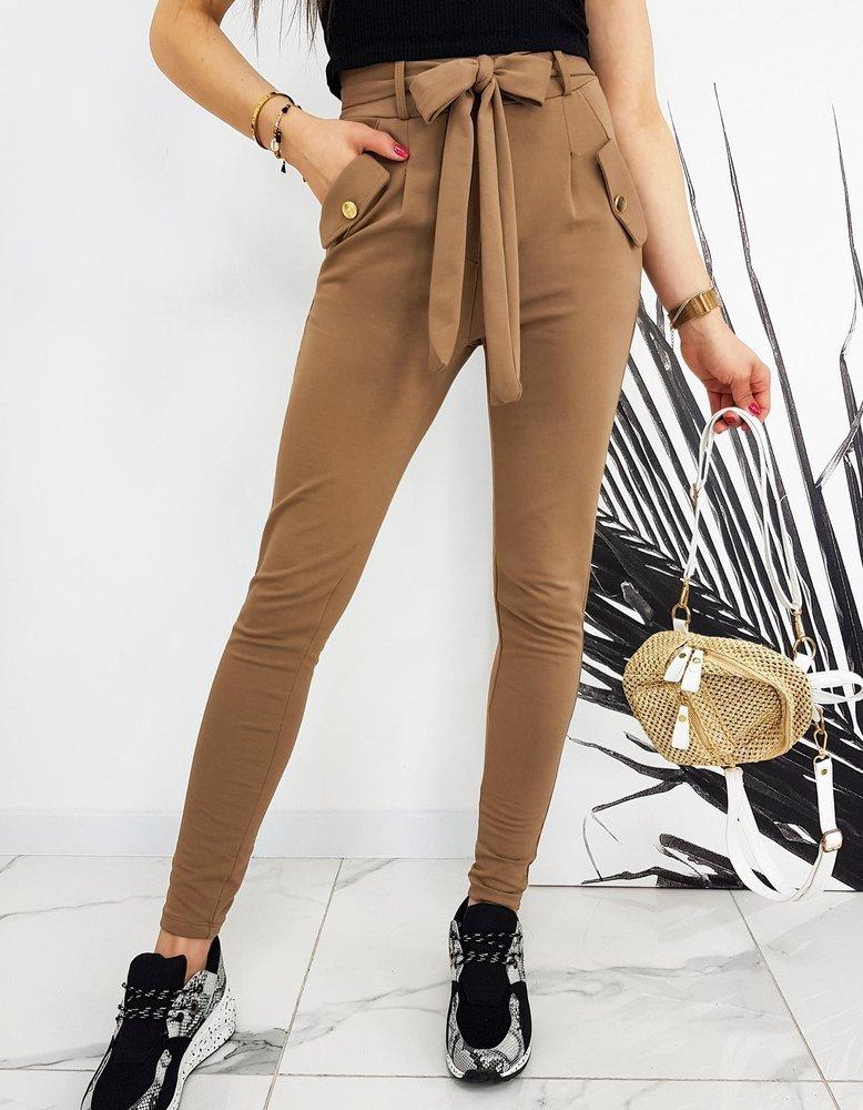 Spodnie damskie IVET kamelowe UY0523