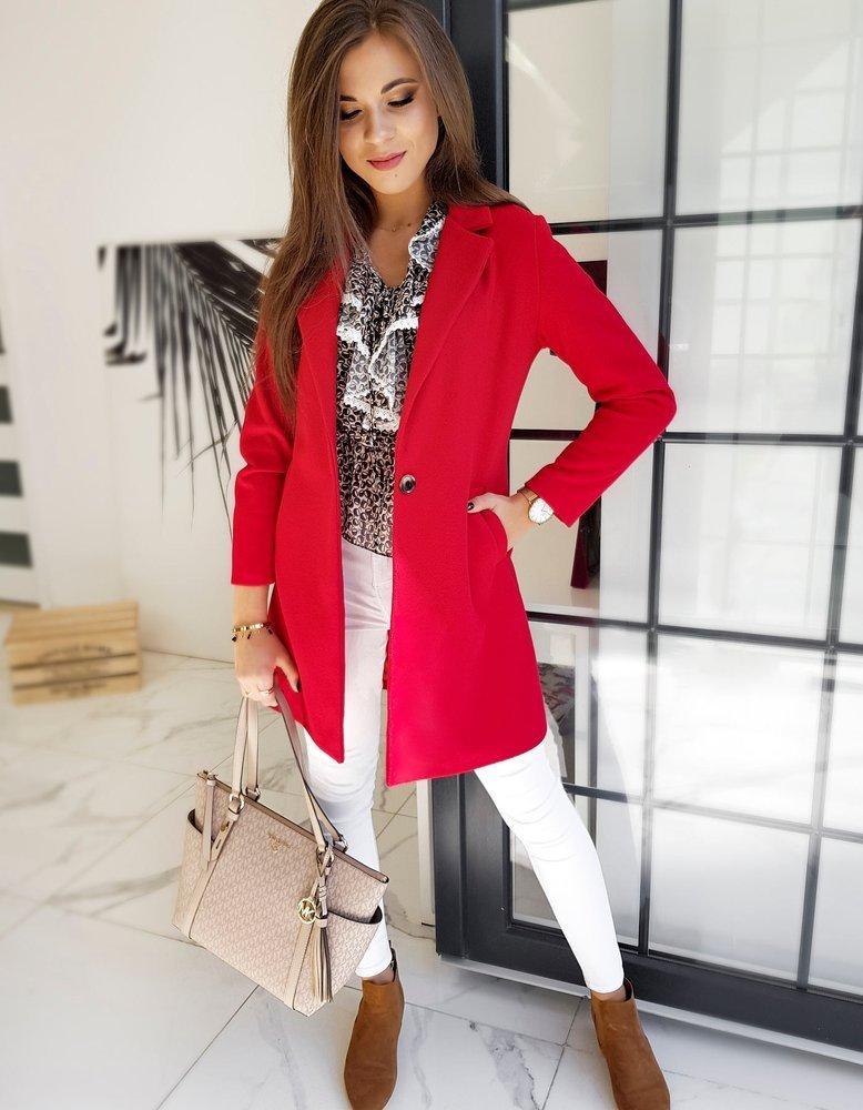 Płaszcz damski VERSO czerwony NY0371