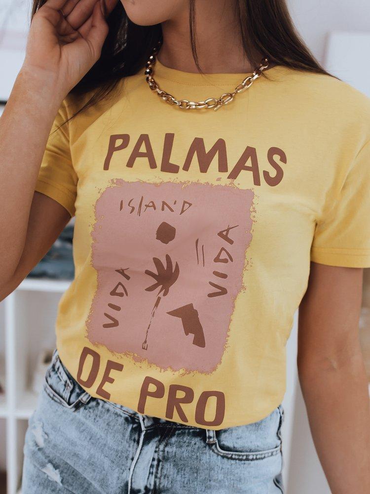 T-shirt damski PALMAS zółty Dstreet RY1667