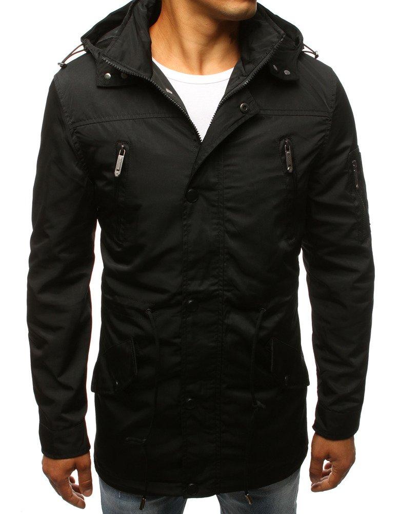 Pánska bunda čierna