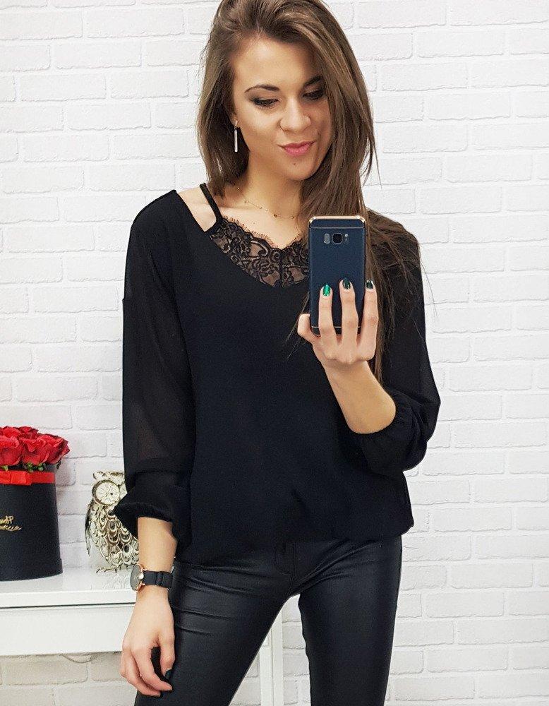 Czarna bluzka damska BREEZE (ry0580)