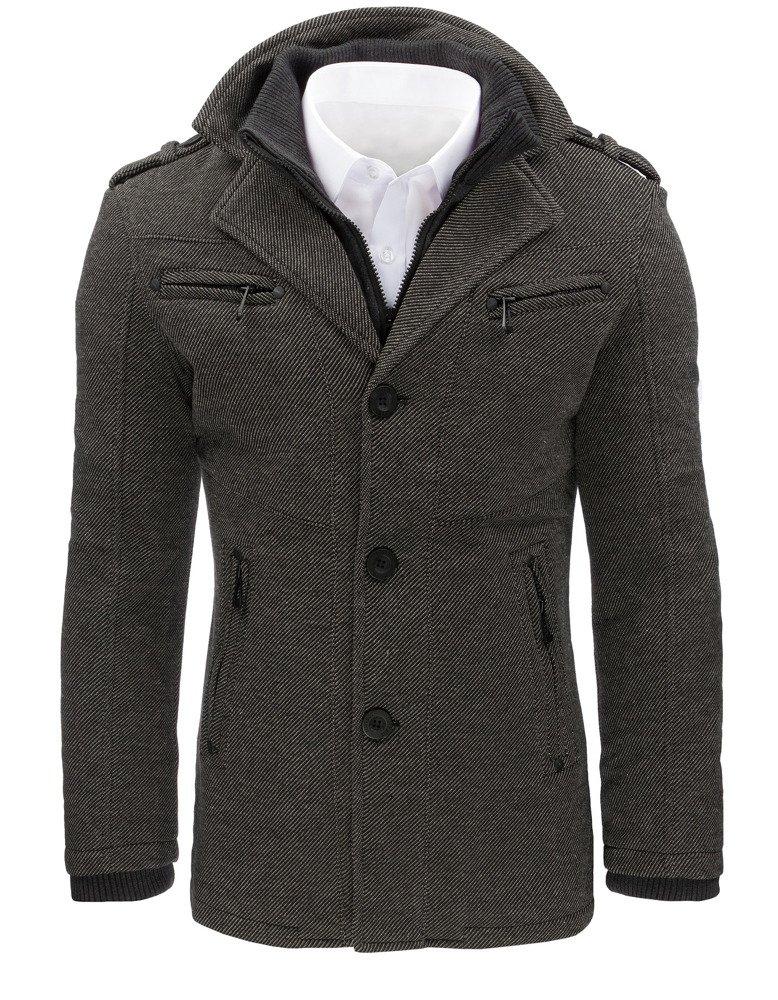 Pánsky štýlový kabát svetlo-sivej farby (cx0403)